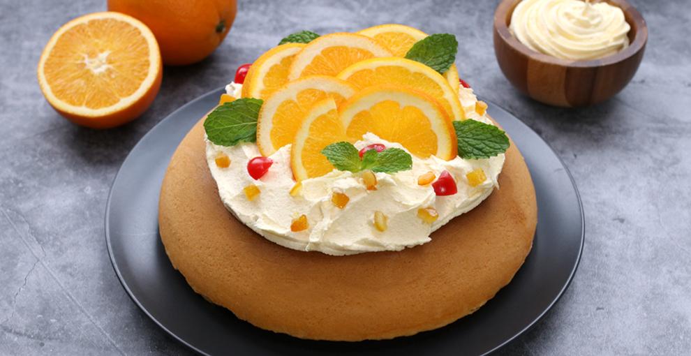 Orange Cream Cheese Cake